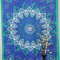 Indian Star Mandala Tapestry Wall Tapestries Hippie Wall Hanging Cotton Twin Bedspread Throw Table Cloth Decor Wall Art