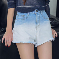 Dip Dye High Waist Denim Short