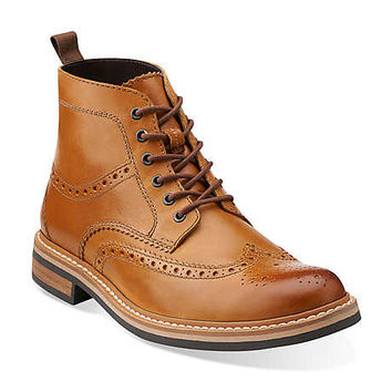 Darby Rise in Cognac Leather - Mens Boots from Clarks