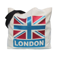 PERSONALISED Union Jack PLACE NAME Tote Bag, 100% Cotton Shopper, Eco Friendly Shopping Bag, Statement Bag, Typography Shopper, Market Bag