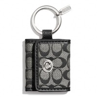 Coach :: Legacy Signature Picture Frame Key Ring