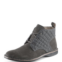 Andrew Marc Dorchester Canvas & Leather Chukka Boot, Gray
