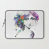 Exotic Girl Laptop Sleeve by Holly Sharpe