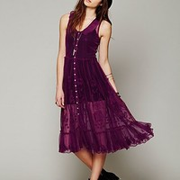 Free People Embroidered Button Front Slip