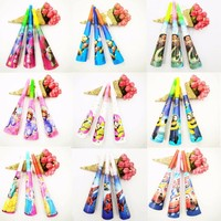 6pcs/set Minions Avenges Moana Frozen Trolls Sofia Funny Children Birthday Party Supplie Trumpet Baby Birthday Party Supplie Set
