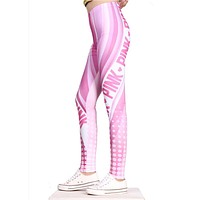 FCCEXIO 2018 Brands New Style Women Leggings Pink VS Love 3D Printed Leggins Fitness legging Sexy Slim High waist Woman pants