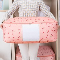 Cotton Quilt Receive Bag, Oxford Cloth Dust Bag Clothing Extra Large Waterproof Bag Side Move Packaging Bags