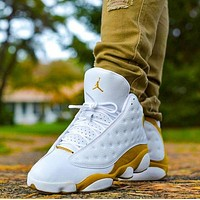 Nike AIR Jordan 13 platinum basketball shoes cat eye fashion men's and women's casual sports shoes