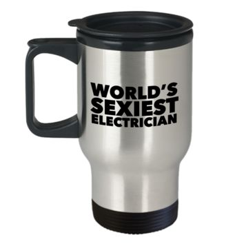 World's Sexiest Electrician Travel Mug Stainless Steel Insulated Coffee Cup