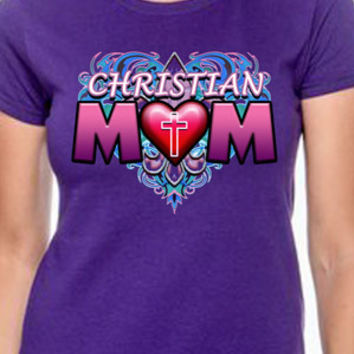 Christian Mom (Heart) T-Shirt