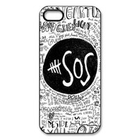 Retro Design The Music Band 5SOS for iPhone 5/5S Case , Hard Plastic 5SOS iPhone 5 Case