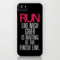 Run like Nash Grier is waiting at the Finish Line iPhone & iPod Case by RexLambo
