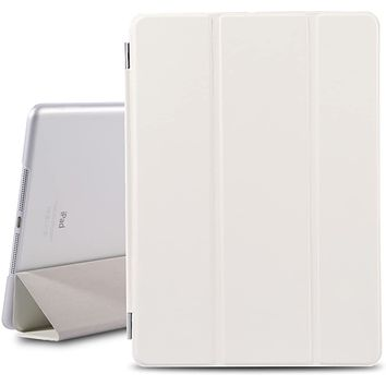 Magnetic Smart Cover Stand + Translucent Hard Back Case for iPad Air + Stylus Pen + Screen Protector Film (White - PT4101)