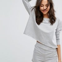 Lazy Days Oversized Slouch Sweater and Pajama Short at asos.com