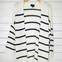 Lori Striped Knit Cardigan