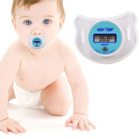 Baby Infants LCD Termometro Digital Mouth Nipple Pacifier Thermometer Temperature Practical Diagnostic-tool Monitores