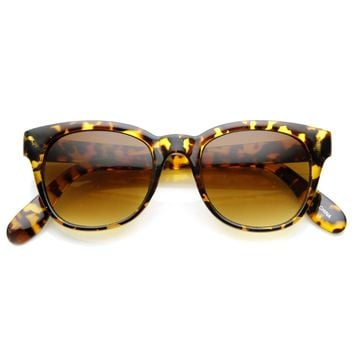 Retro Bold Frame Indie Horned Rim Sunglasses 8987