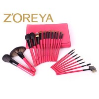 ZOREYA Makeup Brush set 22 pcs Quality Oval Makeup Brushes as Pro Cosmetics Tool Kit for Makeup Brochas with a PU Brushes Holder
