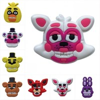 1pcs Five Night at Freddy Cartoon PVC Shoe Charms Buckles Accessories fit Wristbands Bracelets Croc JIBZ Kids Party Gifts
