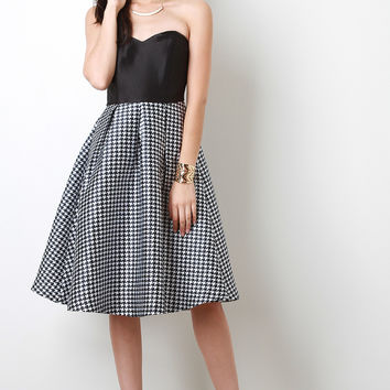Houndstooth Combo Dress