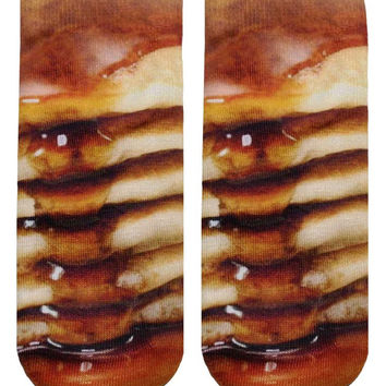 Pancake Ankle Socks