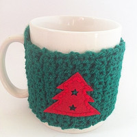 Cup cozy, Christmas Cozy, Stocking Stuffer, Secret Santa Gift, Gifts Under 20, Gifts For Him, Gifts For Her