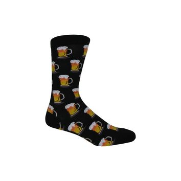 Beer Crew Socks in Black