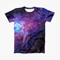 The Glowing Deep Space ink-Fuzed Unisex Soft Fitted Tee Shirt