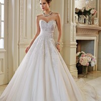 Embellished Sweetheart Gown by Sophia Tolli