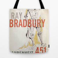 Fahrenheit 451 Book Cover Tote Bag by proudcow   Society6