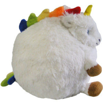 Mini Rainbow Unicorn: An Adorable Fuzzy Plush to Snurfle and Squeeze!