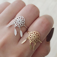 Dreamcatcher Ring Adjustable AnaeCadeau Gift-186