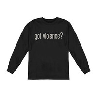 Marilyn Manson Men's  Got Violence  Long Sleeve Black Rockabilia
