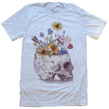 Skull With Flowers Shirt