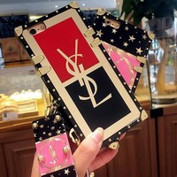 YSL Fashion iPhone Phone Cover Case For iphone 6 6s 6plus 6s-plus 7 7plus iPhone8 8plus