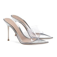 Gigi PVC Steel Mule- METALLIC LEATHER