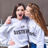BFF? Sisters Graphic Tops