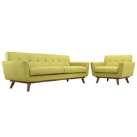 Engage Armchair and Sofa Set in Wheatgrass