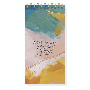 Note To Self Tall Spiral Notepad