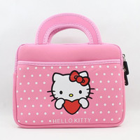 """Cute Hello Kitty Carrying Soft Case Bag Handbag Pouch Skin Sleeve for iPad Mini 2 3 4 Samsung T210 T110 T310 All 7"""" 8"""" Tablet"""