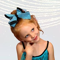 Girls Large Sparkle Cheer and Dance Hair Bows