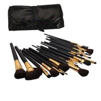 niceeshop(TM) 32 Pcs Professional Cosmetic Makeup Brush Set Kit with Synthetic Leather Case,Black