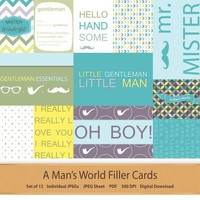 Digital Pocket Scrapbooking Journal Filler Cards Fathers Day Project Life Dad Printable Pocket Cards 3x4 4x6 Paper Cards Planner Quote Cards