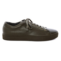 RN86 - Minimalist army green color leather sneaker