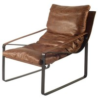 Brayton Leather Chair Brown