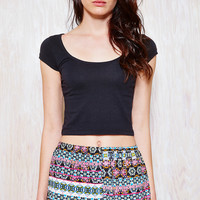 Patterned Woven Shorts