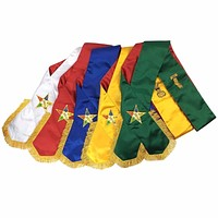Masonic Order of Eastern Star OES complete Sash Set -Set of 5 sashes