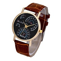Mens Watches Fashion Montre Homme Leather Band Analog Quartz Business Wristwatch Quartz-Watch Fast Shipping Feida