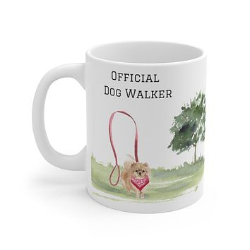 Official Dog Walker Mug — Pomeranian