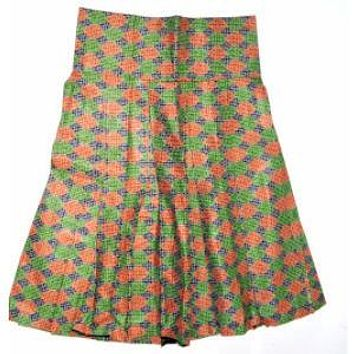 BROWN African Ankara Bias Cut Mini Skirt